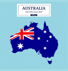australia flag map vector image