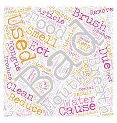 BAD BREATH 2 text background wordcloud concept vector image