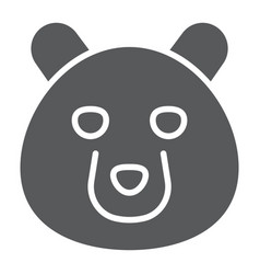 bear glyph icon animal and zoo vector image