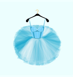 blue dress for ballet dencer vector image