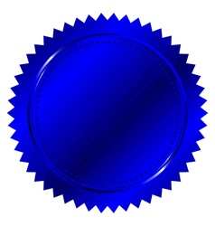 blue seal vector image