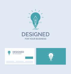 bulb idea electricity energy light business logo vector image