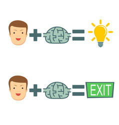 businessman brains create ideas vector image