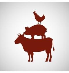 Butcher shop design vector