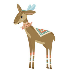 Cartoon antelope indian a vector