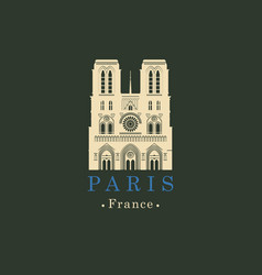 Cathedral of notre dame de paris france vector
