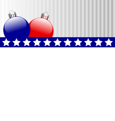 Christmas balls in US colors vector
