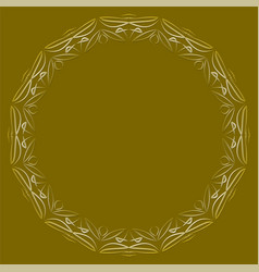 circle frame with lace patterns luxurious art vector image