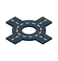 Circular interchange icon isometric 3d style vector