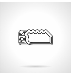 Climbing device flat line icon vector image
