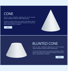 cone and blunted cone prisms vector image
