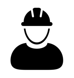 Construction worker icon person profile avatar vector