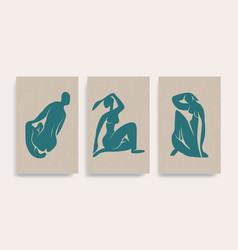 Contemporary henri matisse abstract blue vector