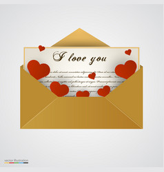 Envelop with letter and hearts vector