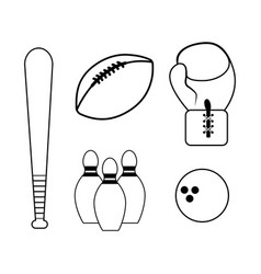 figure diferents sport games icon vector image