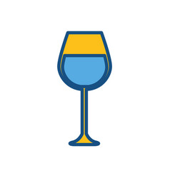 Figure tasty wine glass icon vector
