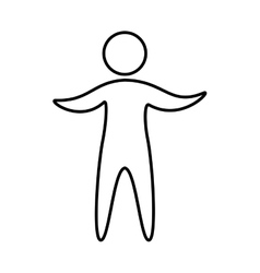 Fitness sport athlete silhouette vector