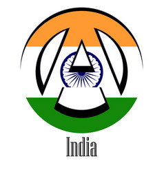 flag of india of the world in the form of a sign vector image