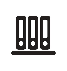 Flat icon in black and white documents folders vector