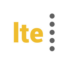 Flat lte logo with signal strength dots vector