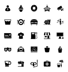 Franchisee business icons on white background vector image