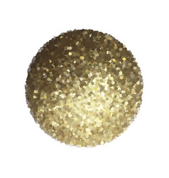 Golden sphere isolated on white vector