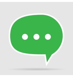 Green Message Bubble vector