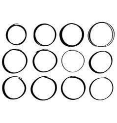 Hand drawn scribble circle vector
