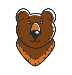 Head of cute bear vector