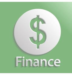 Icon finance vector image