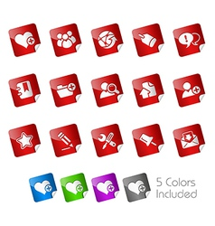Internet Blog Stickers vector image