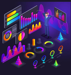 isometry diagrams holographic color charts vector image