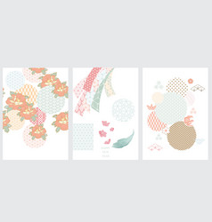 japanese template flower icon with japanese vector image
