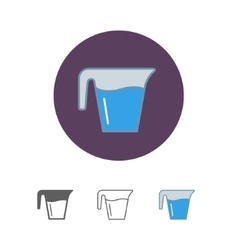 Jug glass with water vector image