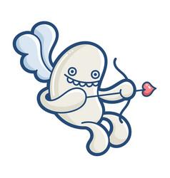 kawaii cupid monster cartoon vector image