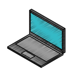 Laptop computer isometric icon vector