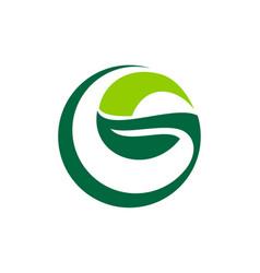 Letter g leaf vector