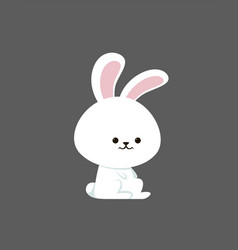 little cute bunny on white background vector image