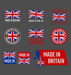made in great britain united kingdom product vector image