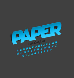 Paper cut out style font vector
