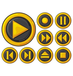 player buttons set vector image