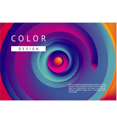 presentation cover with spiral lines and vibrant vector image