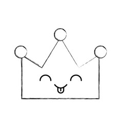 queen crown isolated kawaii character vector image