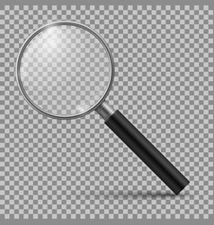 Realistic magnifying glass magnification zoom vector