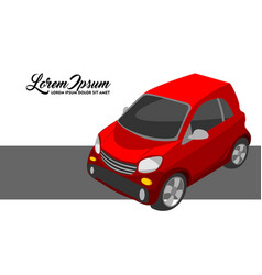 red city car vector image