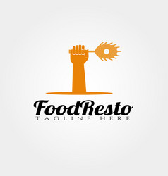 restaurant food logo design food icon vector image