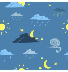 Seamless weather forecast background vector image vector image