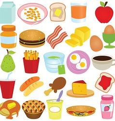 Set of Cartoon food vector