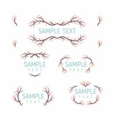 set of floral frames wedding ornament concept vector image