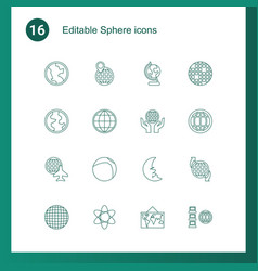 sphere icons vector image